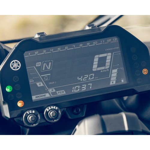 Compact instrument panel with LCD display